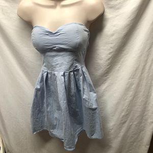 Rue 21 Womens Sz m Light Blue Halter Mini Dress